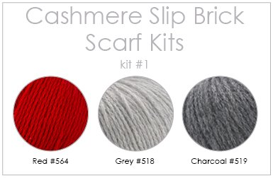 Cashmere Slip Brick Scarf Drop Ship Kit