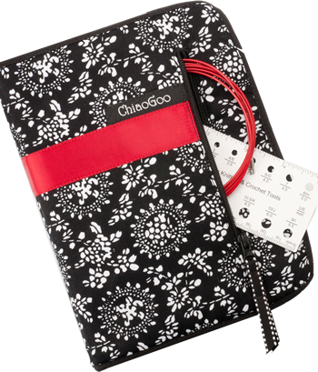 Red Lace Twist Interchangeable Needle Sets