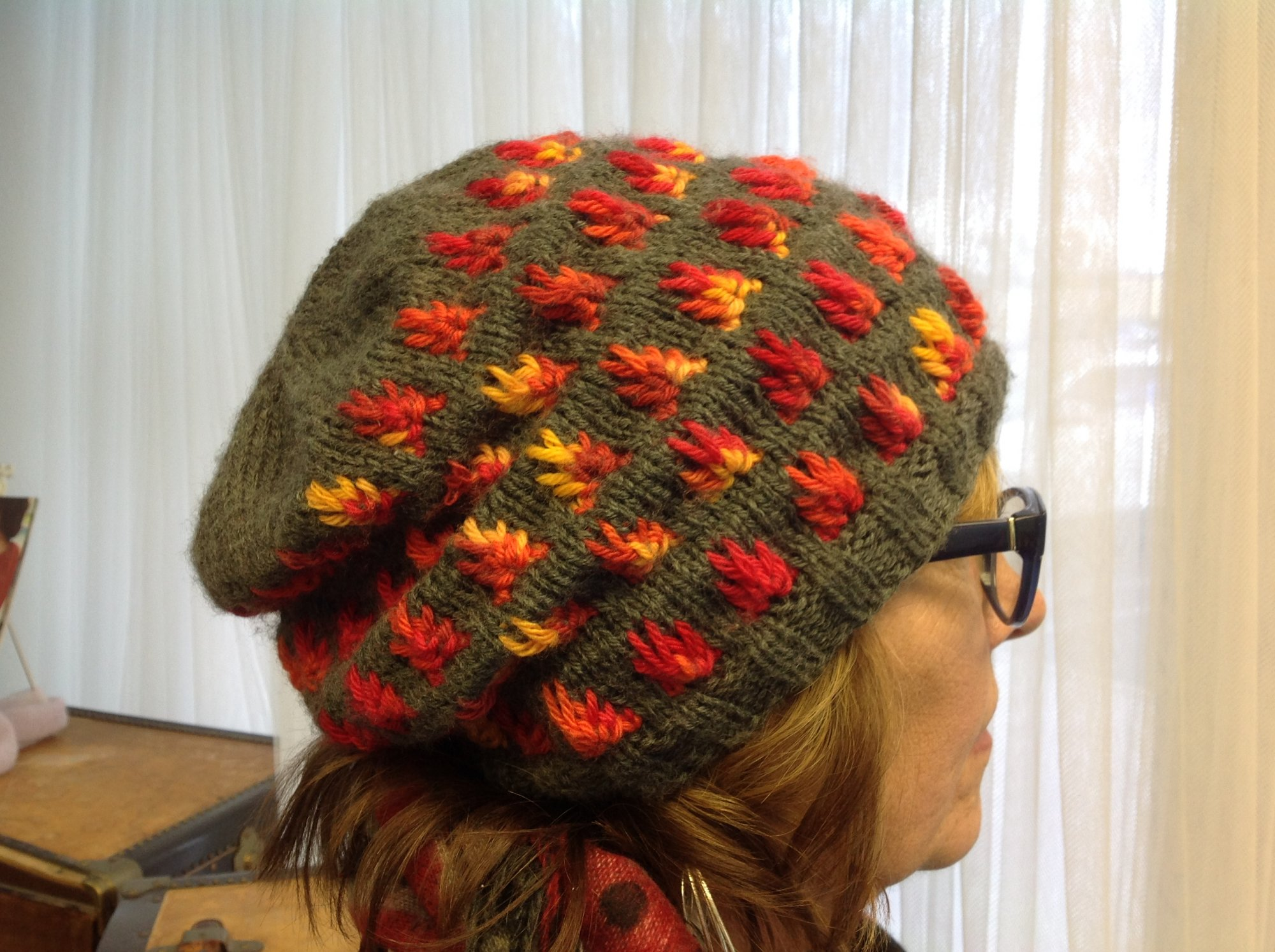 Fire and Ash Hat Digital Pattern