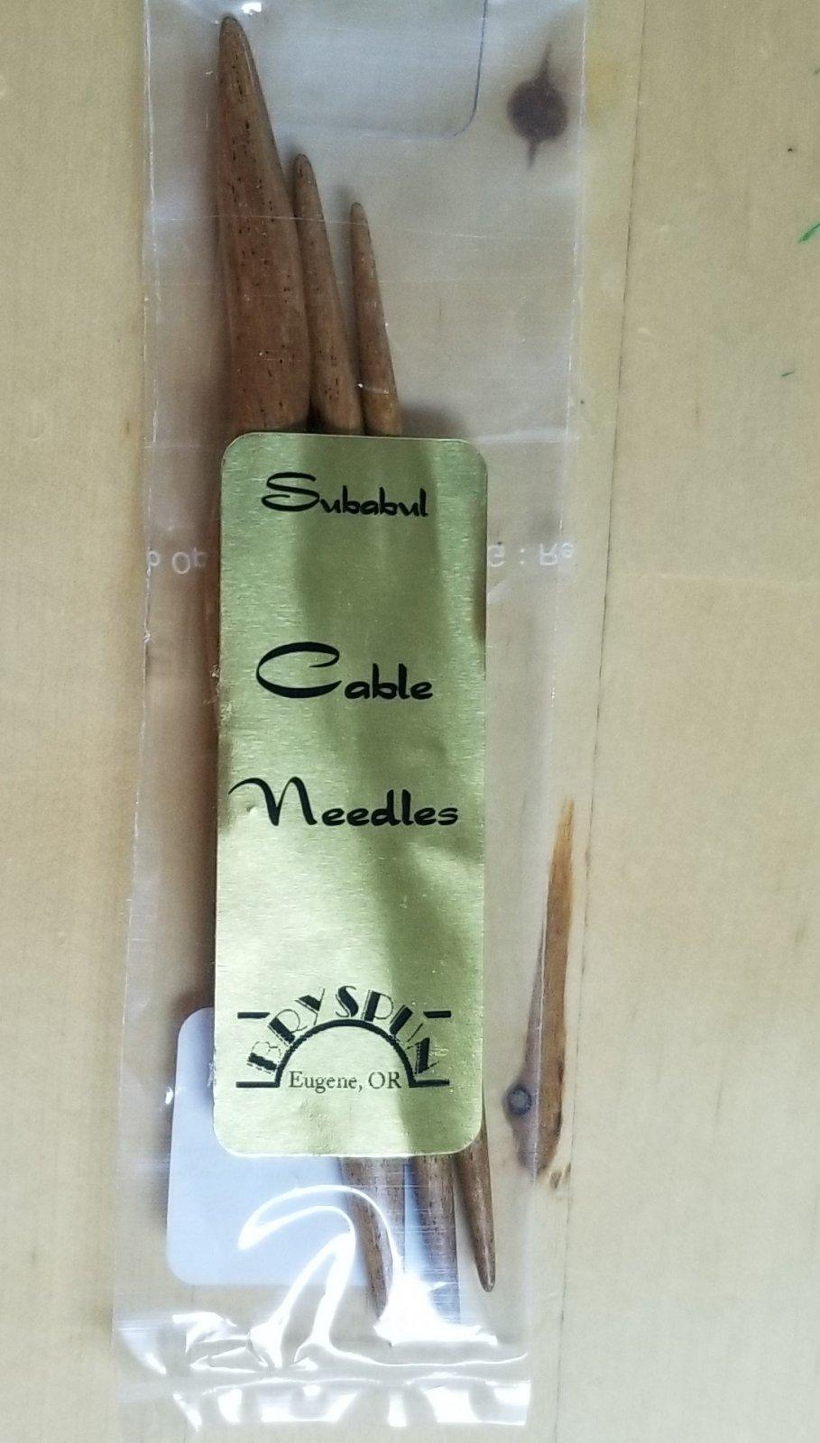 Albizia Wood Cable needles set of 3