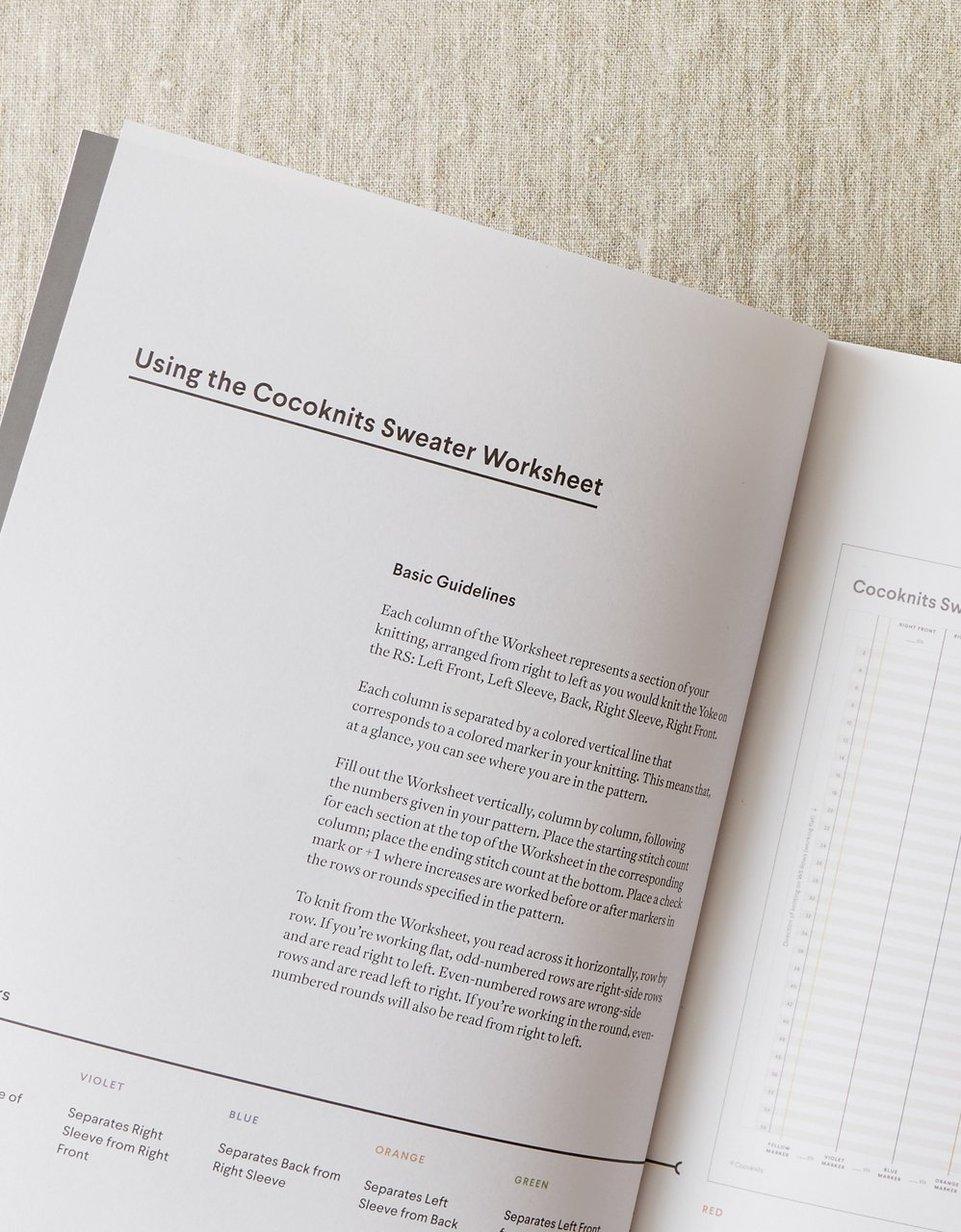 Sweater Worksheet Journal