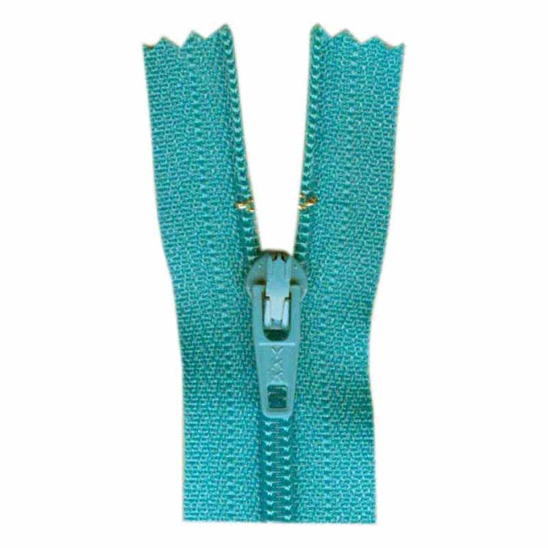 General Purpose Closed End Zipper 35cm (14) -- Parrot Blue - 1700