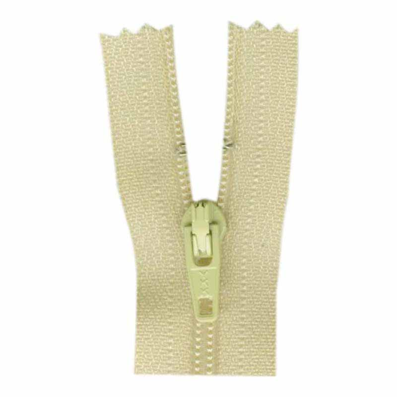 General Purpose Closed End Zipper 35cm (14) -- Light Tan - 1700