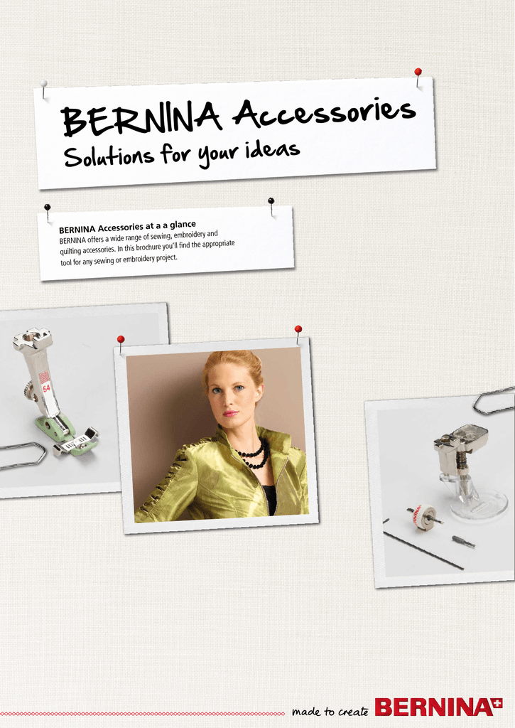 Bernina Accessories Solutions for your Ideas book (download)