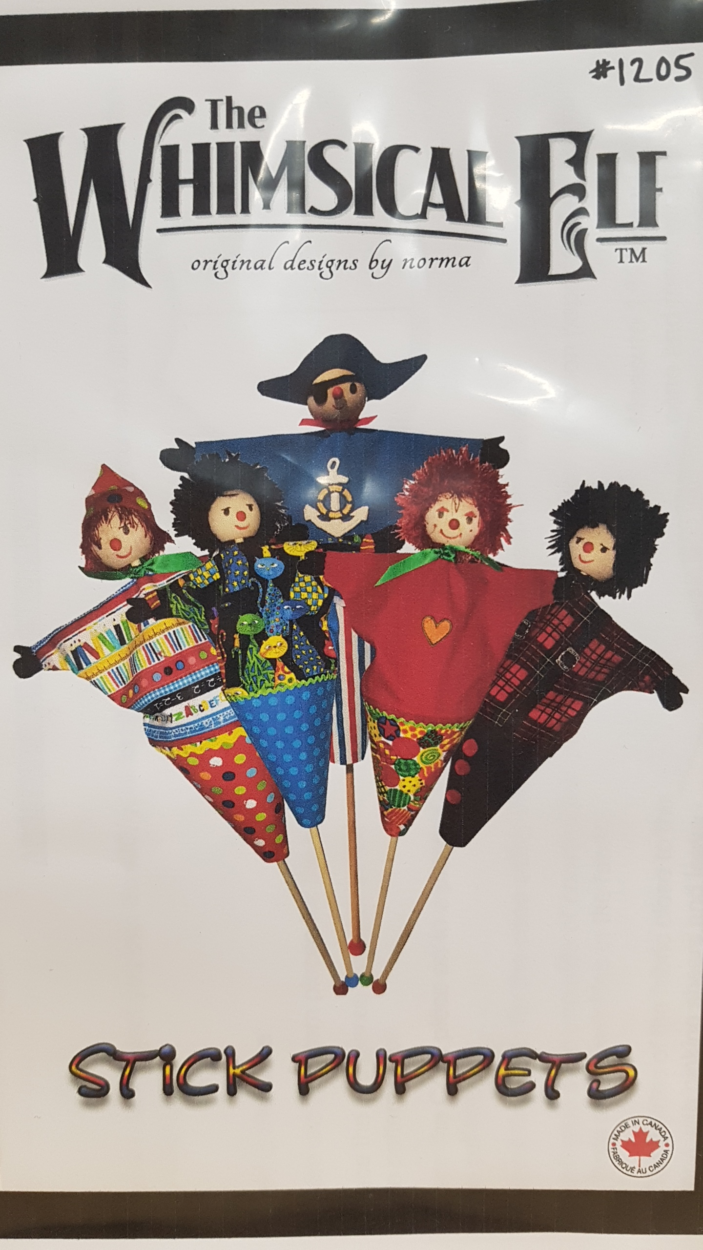 Whimsical Elf Stick Puppets