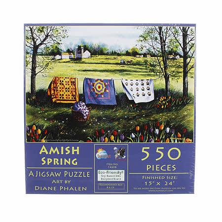 Amish Spring 550pc Puzzle