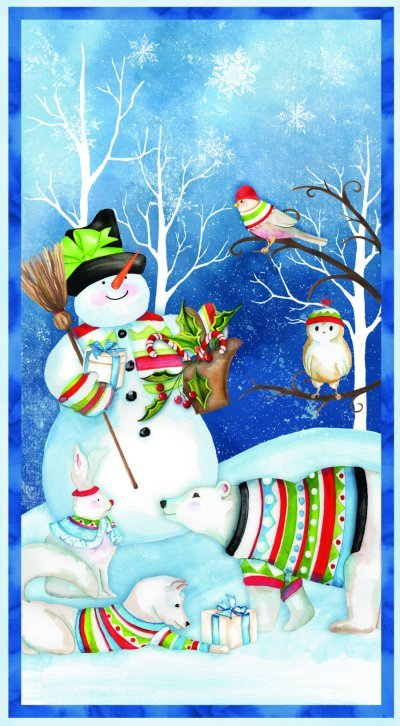 Nancy Mink Snow Friends Panel