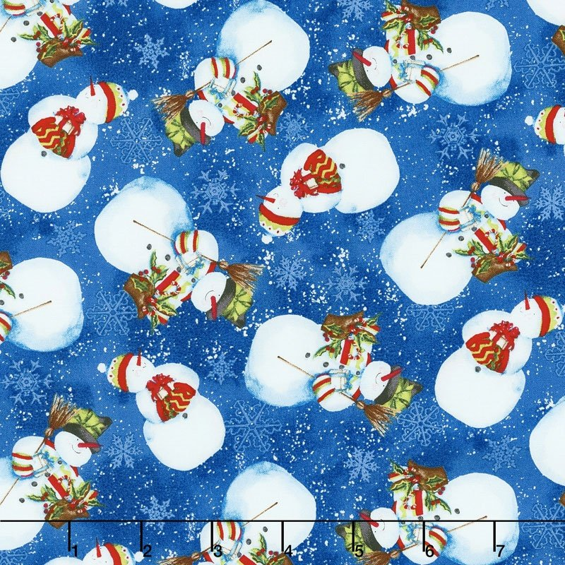 Nancy Mink Snow Friends Blue Snowman