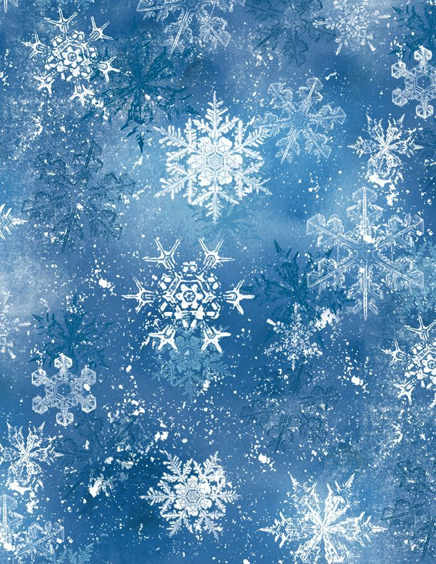 Nancy Mink Snow Friends Dark Blue Snowflake