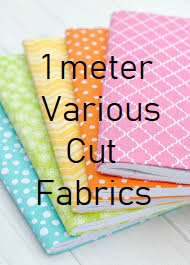 1 Meter Various Cuts of Fabric $16.95!