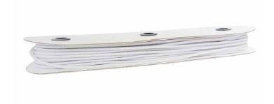 UNIQUE Braided Elastic 1/8 White (3.2mm)