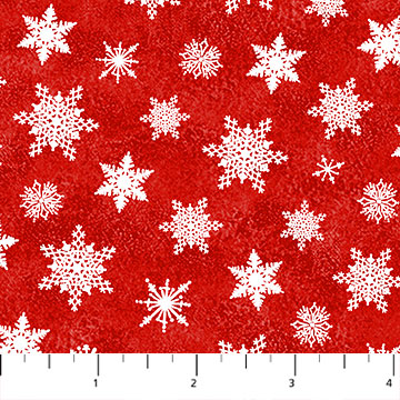 Santa Claus Is Coming to Town Red Snowflakes