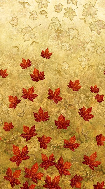 Linda Ludovico - Stonehenge Maplewood  -  22015-34 - Floating Maple Leaves