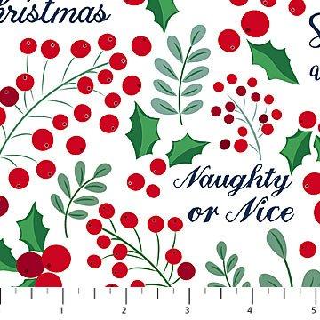 Fa La La! - Christmas Sweaters - White Naughty or Nice