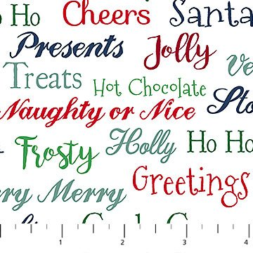 Fa La La! - Christmas Sweaters - White with Multi Words