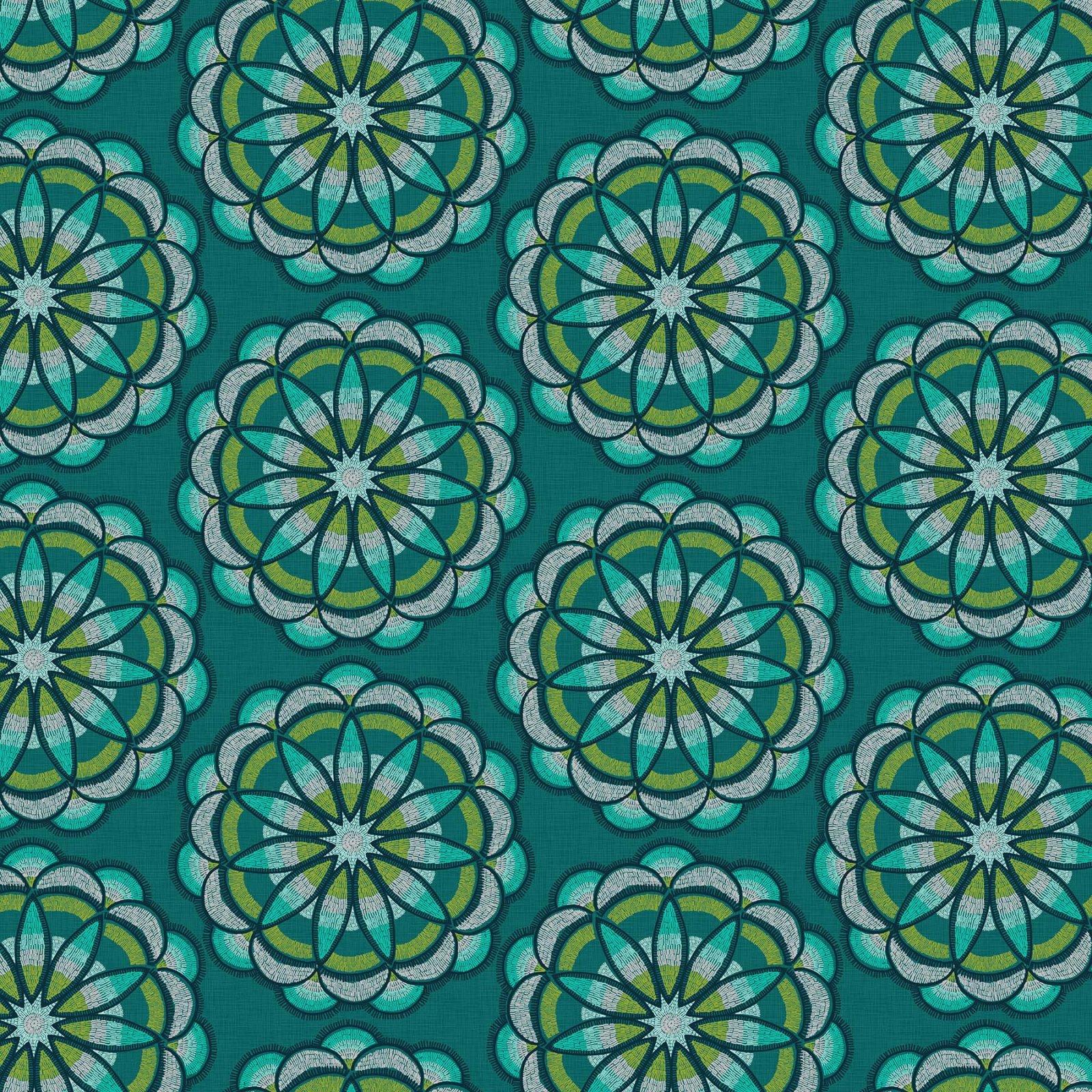 Nina Djuric Great Plains - Teal Flower Print - 22935-64