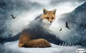 Call of the Wild Digital Print Fox