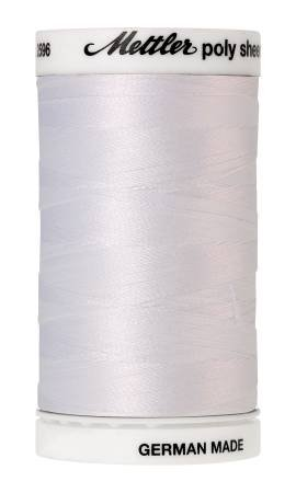 Mettler Poly Sheen Polyester Embroidery Thread 40wt 140d 800m/875yds White