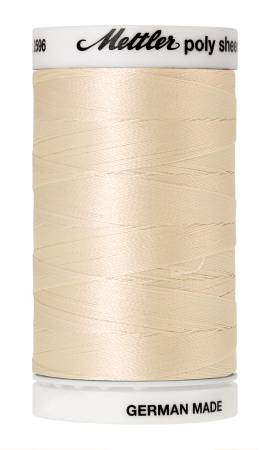 Poly Sheen Polyester Embroidery Thread 40wt 140d 800m/875yds Muslin