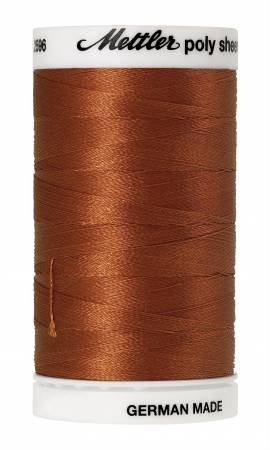 Poly Sheen Polyester Embroidery Thread 40wt 140d 800m/875yds Nutmeg