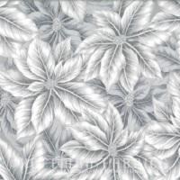 Hoffman Fabrics Warm Wishes - Fog/Silver Flowers