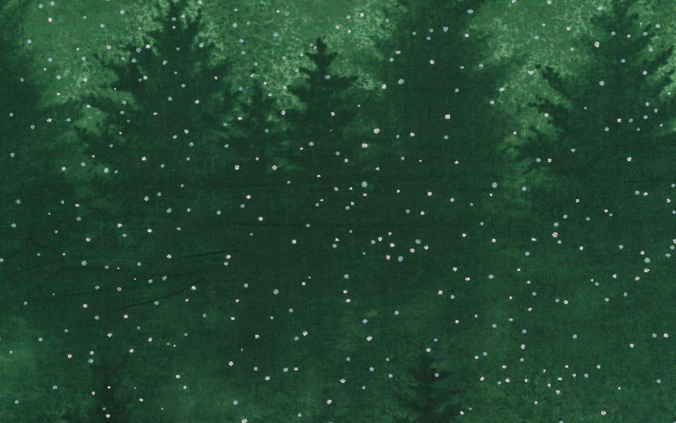 Hoffman Fabrics A Cardinal Christmas Pine/Silver