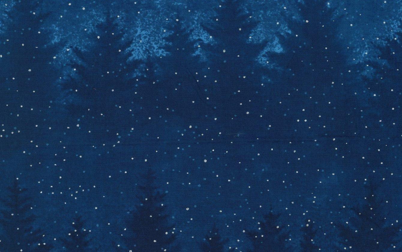 Hoffman Fabrics A Cardinal Christmas Royal/Silver