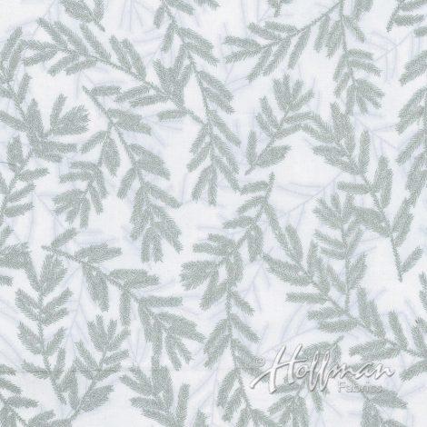 Hoffman Fabrics A Cardinal Christmas Frost/Silver
