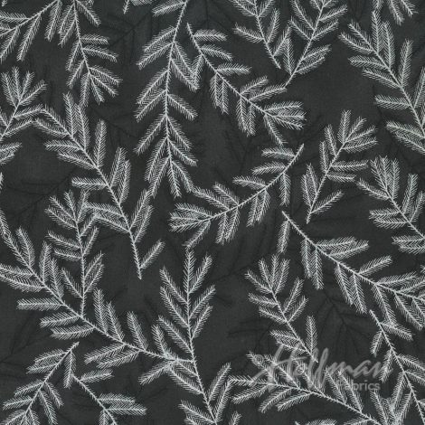 Hoffman Fabrics A Cardinal Christmas Black/Silver