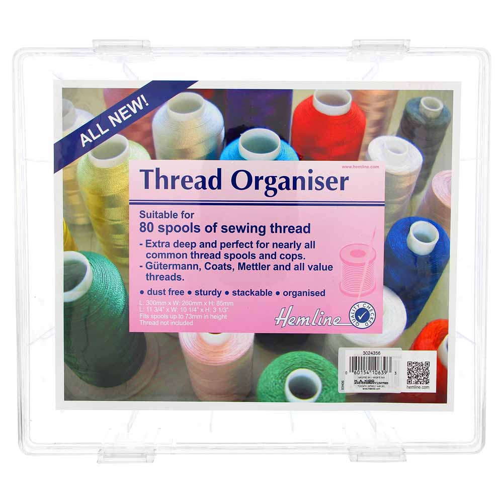 HEMLINE Thread Storage Box - Holds up to 80 Spools