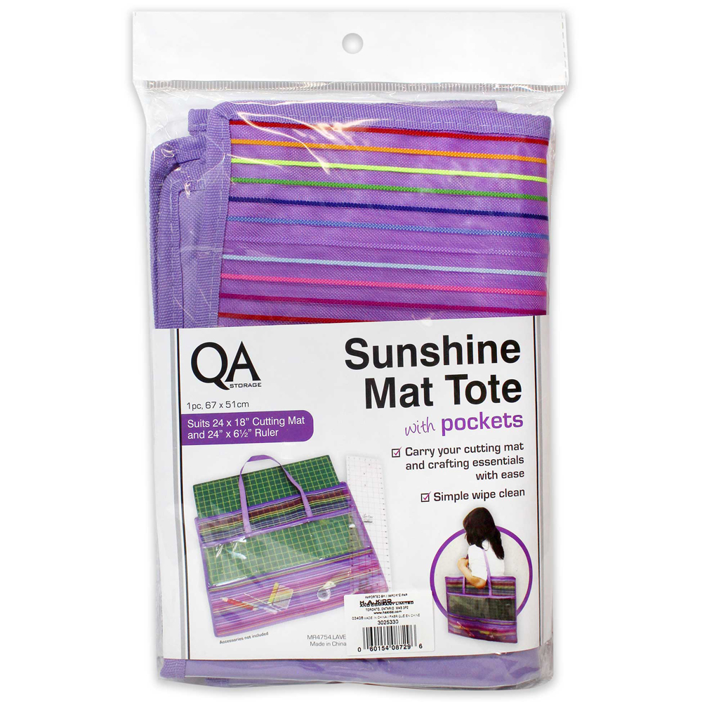 QA Sunshine Mat Tote with Pockets