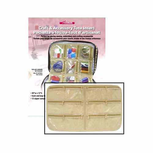VIVACE Craft Tote Inserts 12 Pockets Beige - 30 x 51cm (12 x 20)