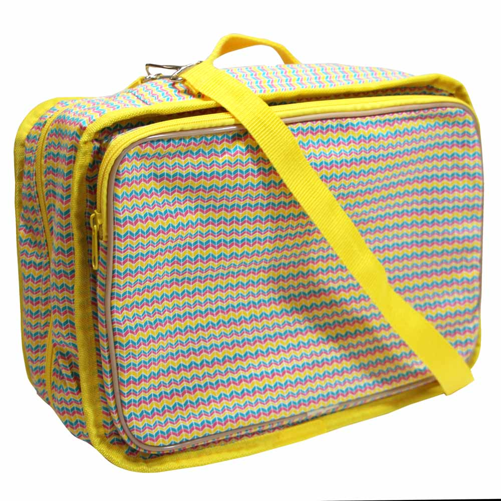 VIVACE Craft/Accessories Tote - Rainbow Wave - 33 x 25 x 13cm (13 x 10 x 5)