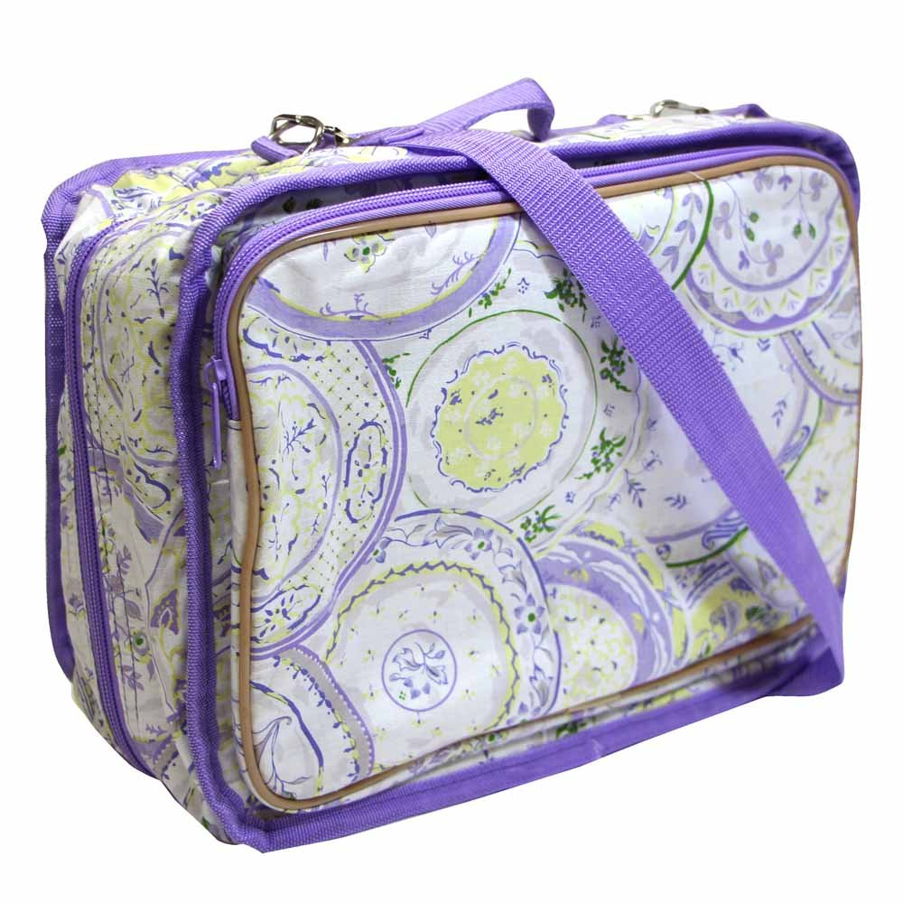 VIVACE Craft/Accessories Tote - Violet Plate - 33 x 25 x 13cm (13 x 10 x 5)