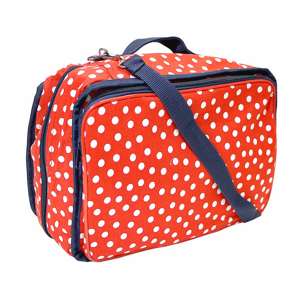 VIVACE Craft/Accessories Tote - Polka Dots - 33 x 25 x 13cm (13 x 10 x 5)