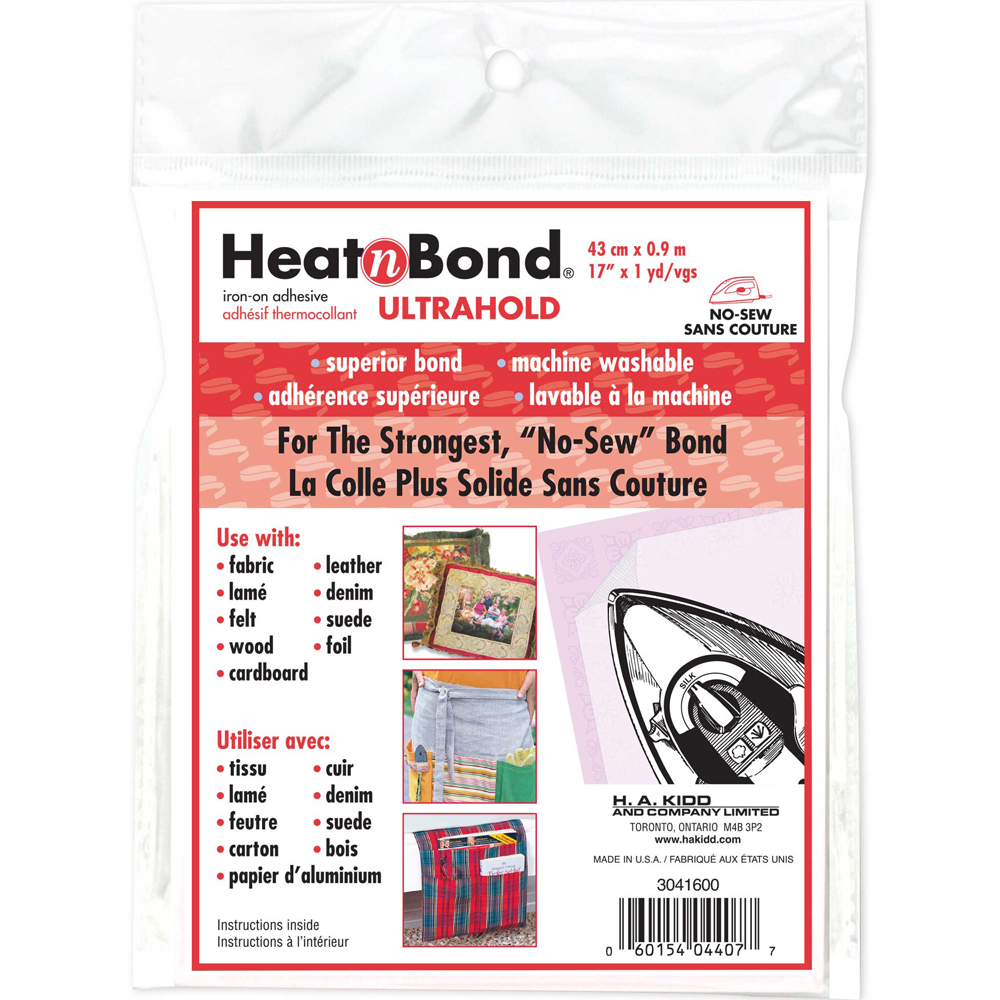 HEATNBOND Ultra Hold Iron-On Adhesive Sheets - 43cm x .9m
