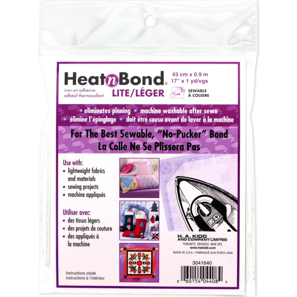 HEATNBOND Lite Iron-On Adhesive Sheets - 43cm x .9m (17 x 1yd) pkg