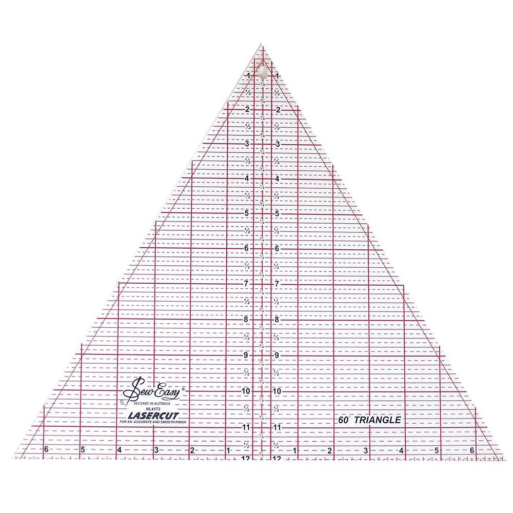 SEW EASY Triangle Ruler 60° - 12 x 13 7/8 (30.5 x 35.2cm)