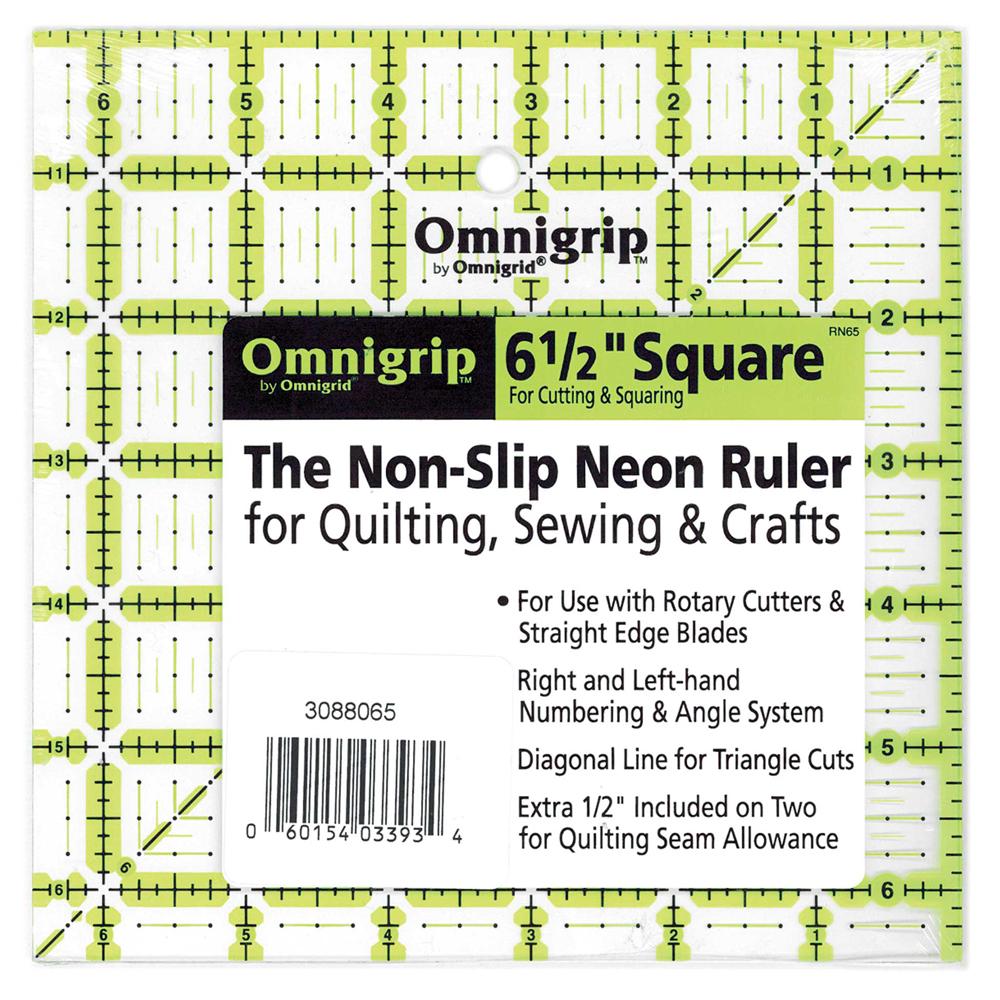 OMNIGRIP Ruler - 6.5 x 6.5 (16.5 x 16.5cm)