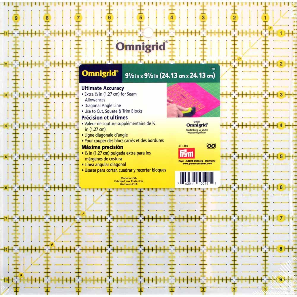 OMNIGRID Ruler - 9 1/2 x 9 1/2 (24.1 x 24.1cm)