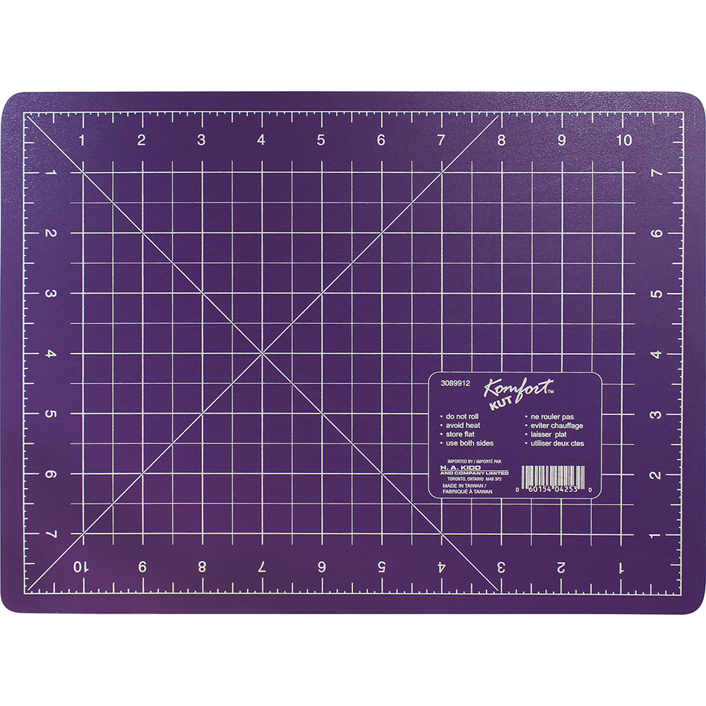 KOMFORT KUT Purple Cutting Mat - 9 x 12 (22.9 x 30.5cm)
