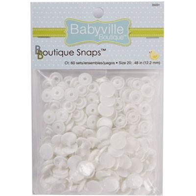 Babyville Snaps White (60)
