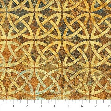Stonehenge Solstice - Knotted Circles Rust 39429-56