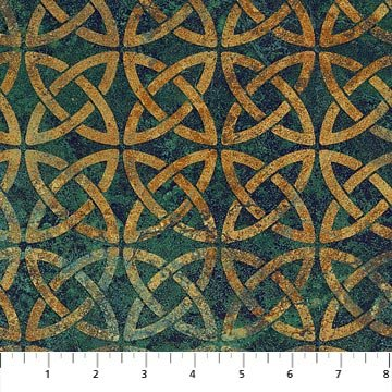 Stonehenge Solstice - Knotted Circles Teal 39429-69