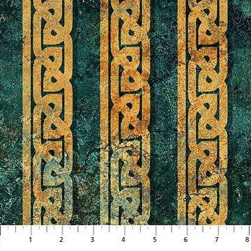 Stonehenge Solstice - Celtic Stripe Teal 39430-69