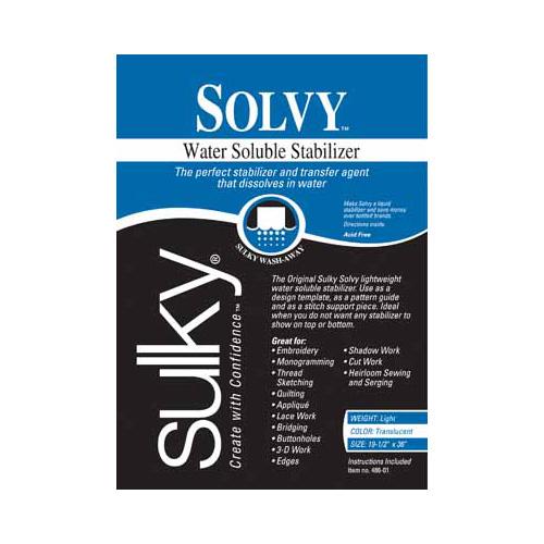 SULKY Solvy - White - 50 x 91cm pkg (20 x 36)