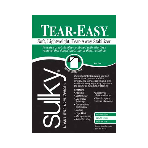 SULKY Tear-Easy - White - 50 x 91cm pkg