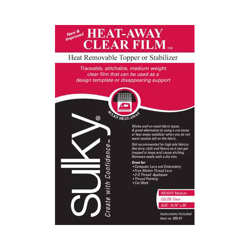 SULKY Heat-Away - Clear - 50 x 91cm pkg (20 x 36)