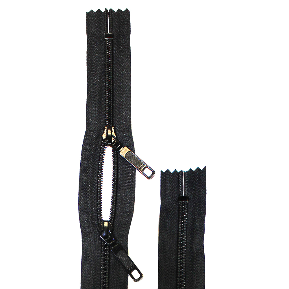 Purse/Bag Two-Way Non-Separating Zipper 35cm (14) - Black - 1740