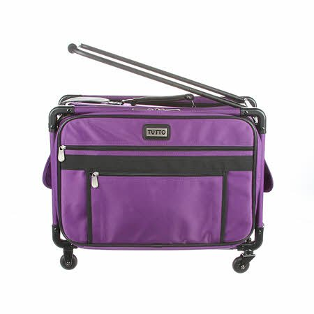Tutto Machine Case On Wheels Med 20 Purple